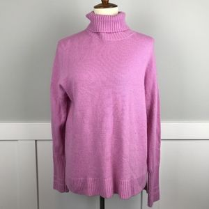 J. Crew Pink Wool Blend Turtleneck Sweater